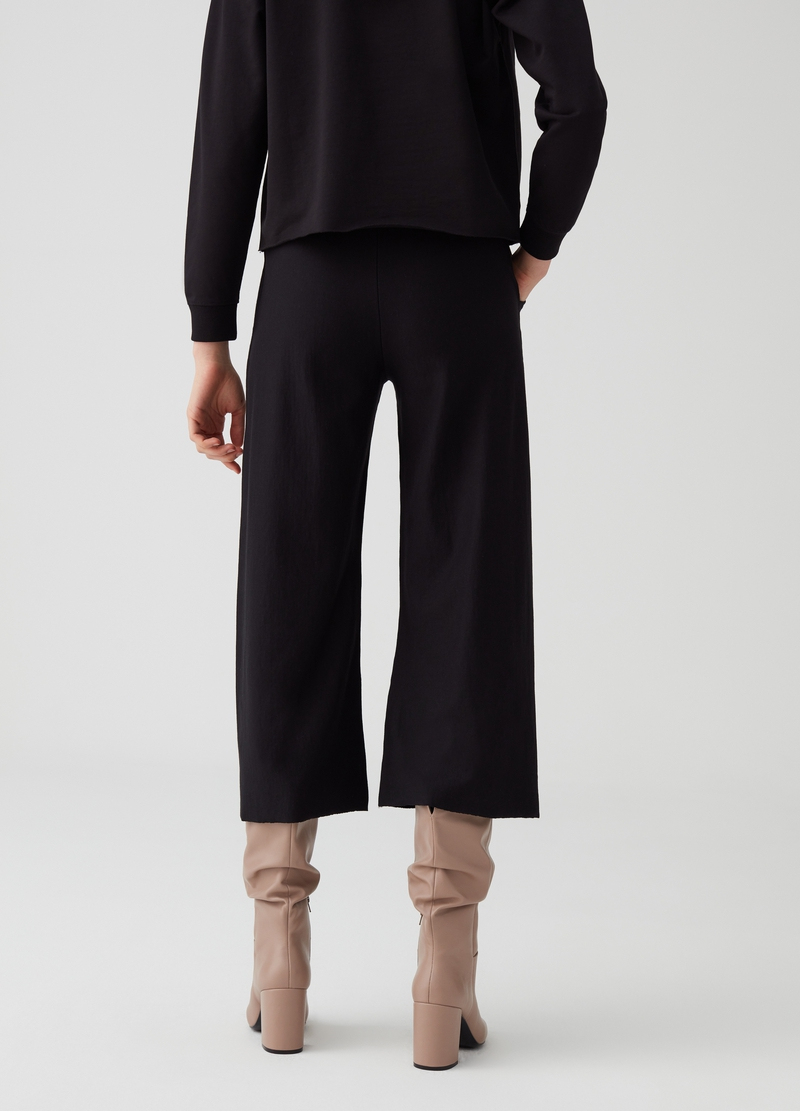 Pantaloni crop con coulisse tasche image number null