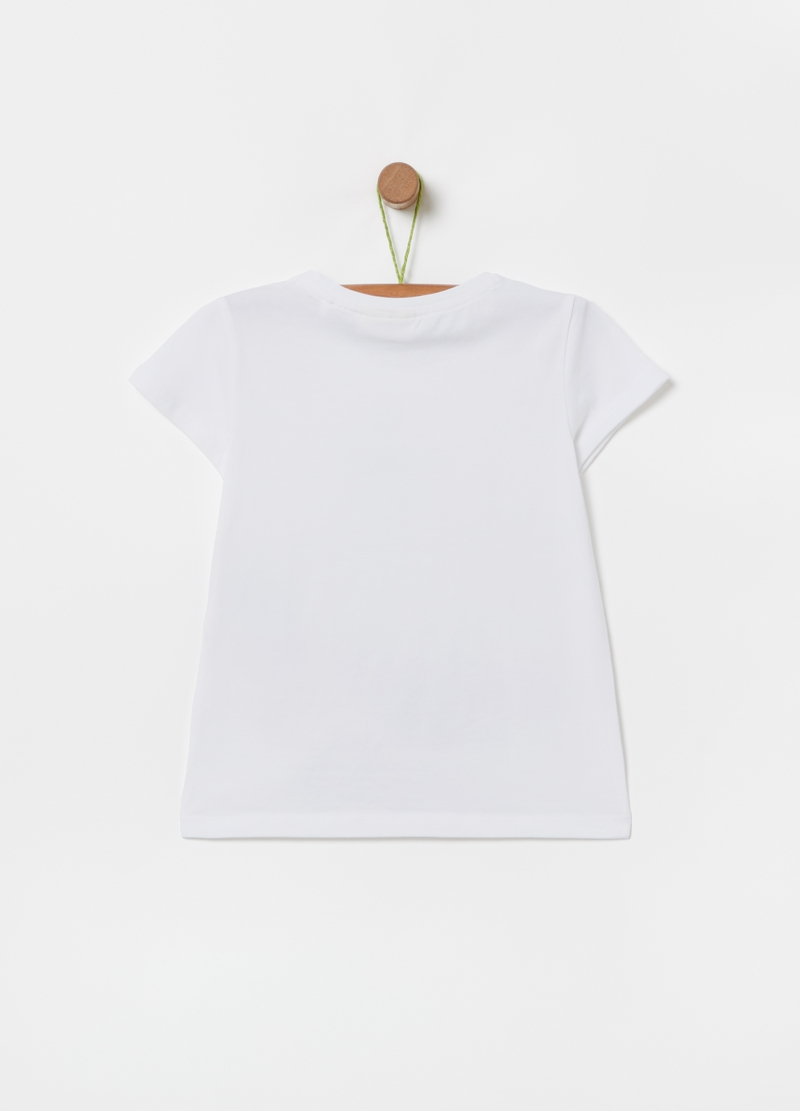 Stretch cotton T-shirt with fruit print image number null