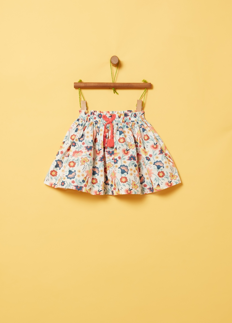 Floral skirt with drawstring image number null