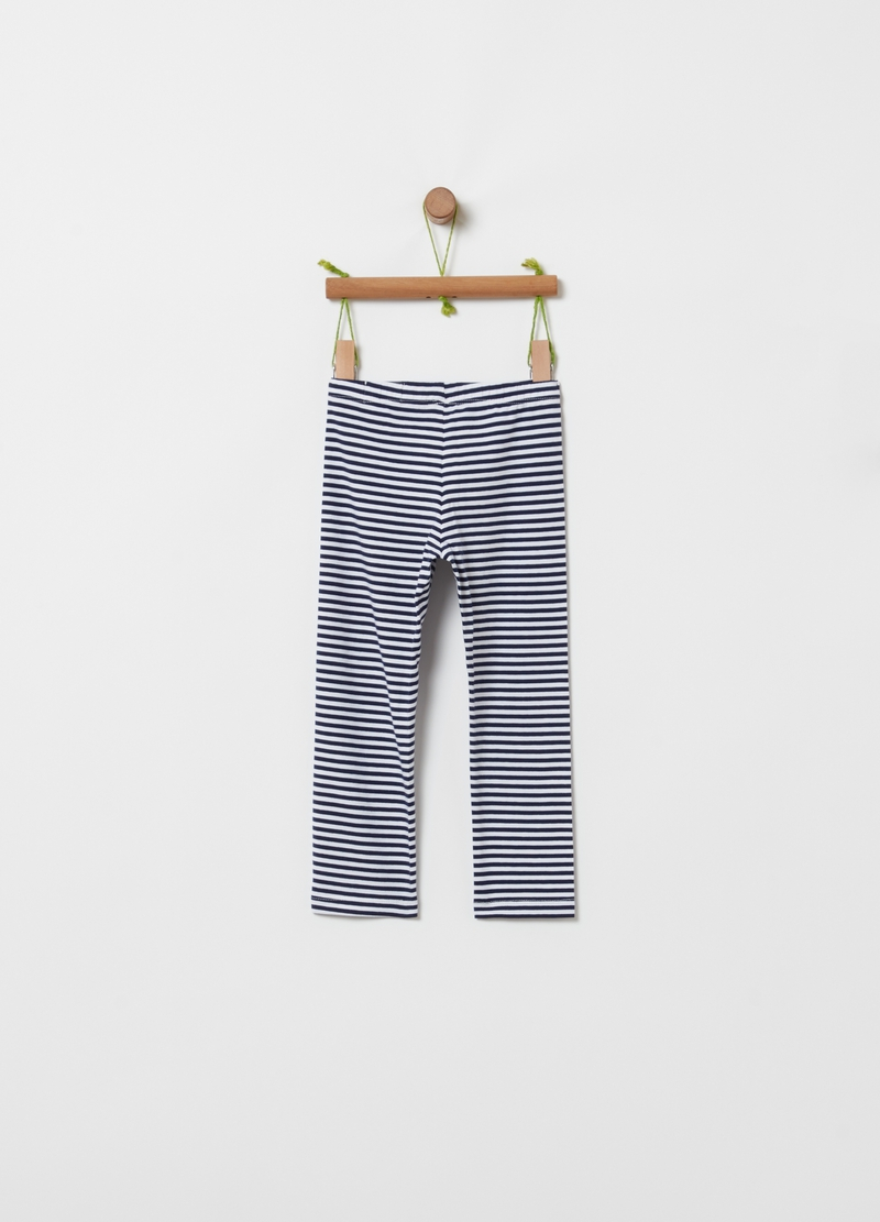 Leggings stretch a righe image number null