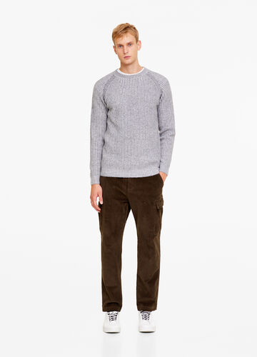Regular-fit cargo jogger trousers