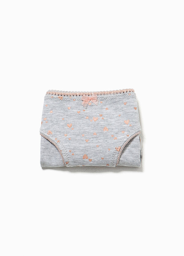 Briefs in organic cotton with heart pattern | OVS