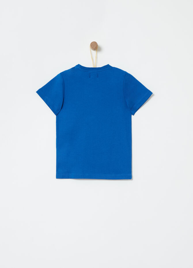 Solid colour T-shirt with round neck