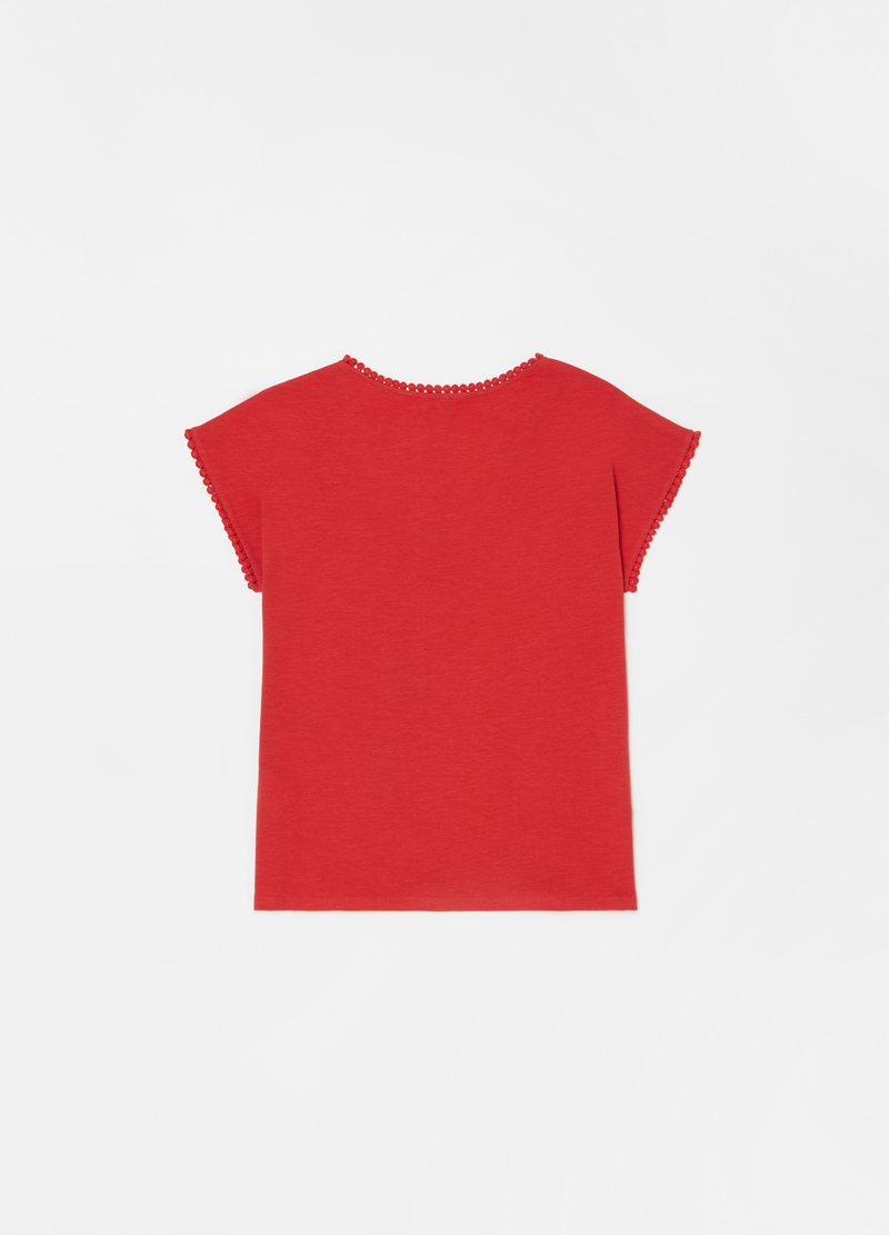 T-shirt puro cotone con nappine image number null