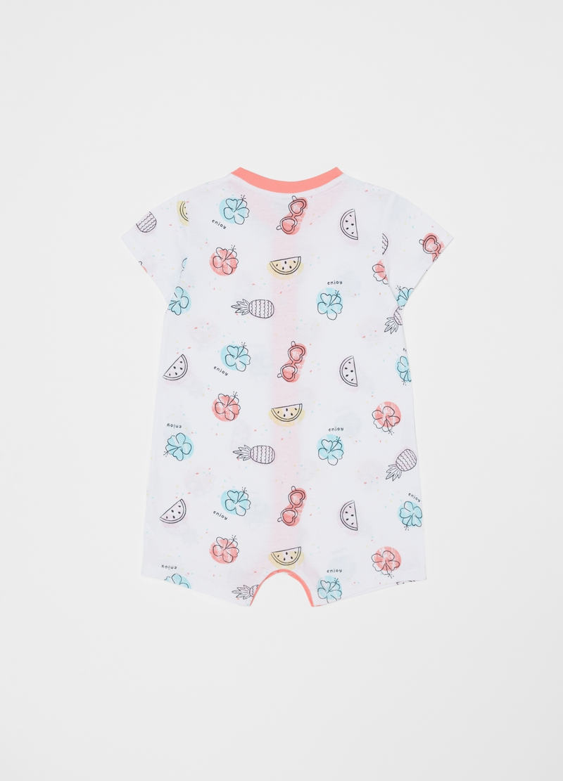 Short onesie with fruit pattern image number null