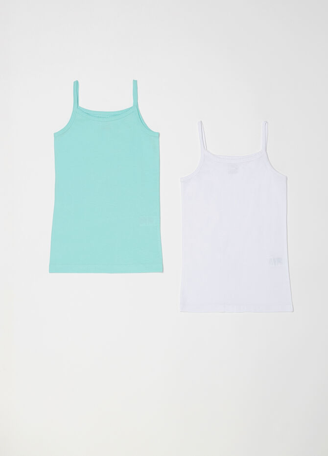 Set of two biocotton vests
