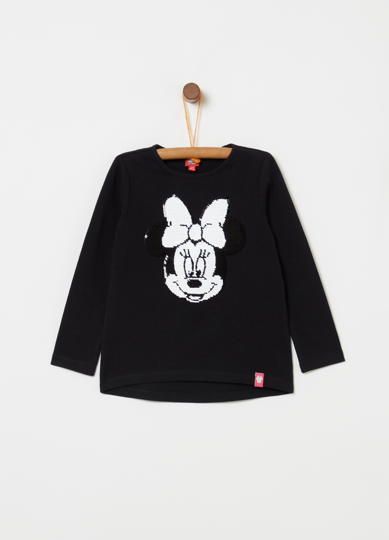 T-shirt in puro cotone con perline Minnie image number null