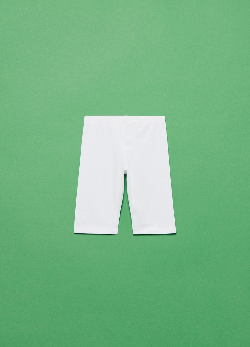 Leggings corti in cotone stretch image number null