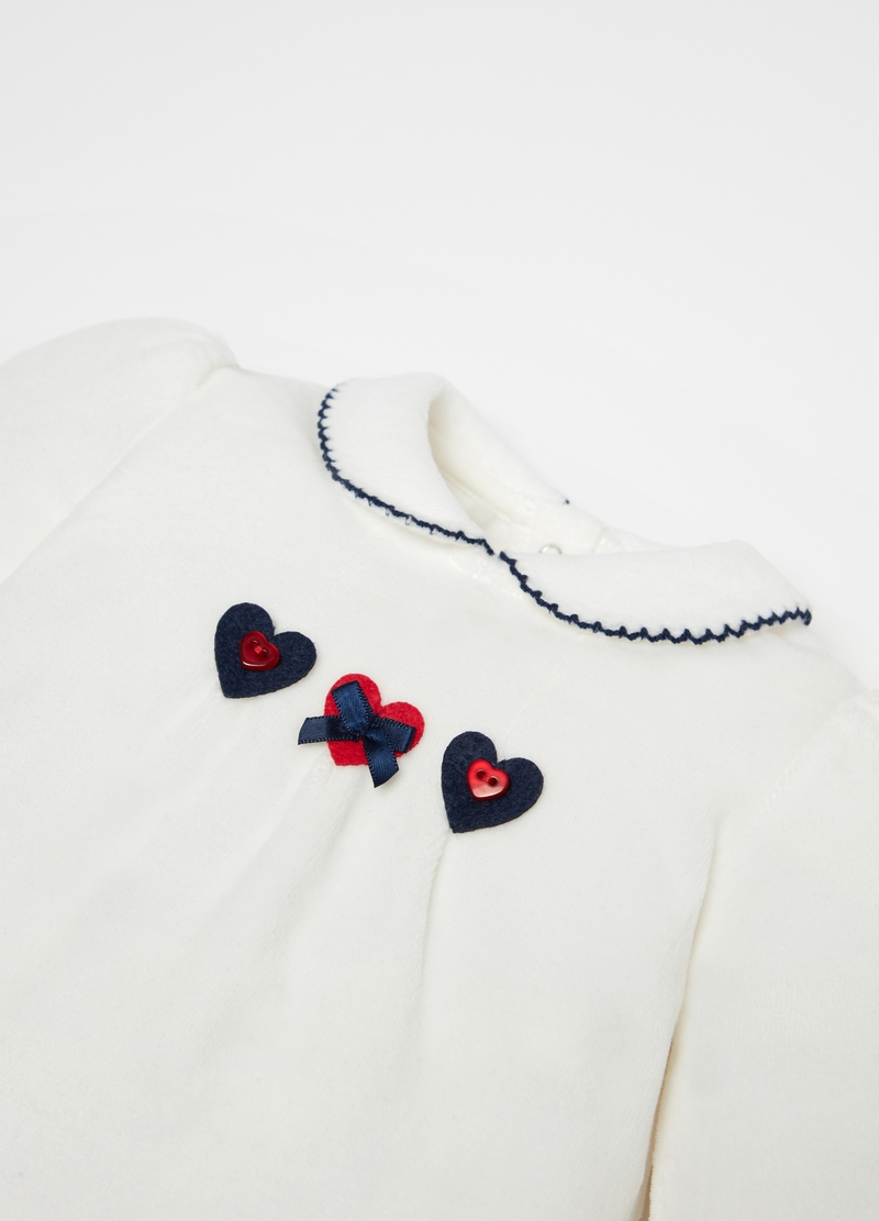 T-shirt and trousers set with hearts print image number null