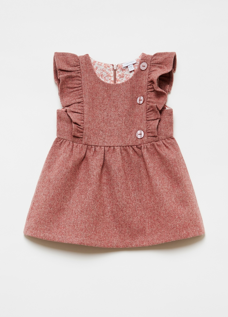 Wool blend dress with frills image number null