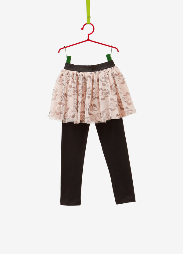 Cotton leggings with Minnie Mouse skirt