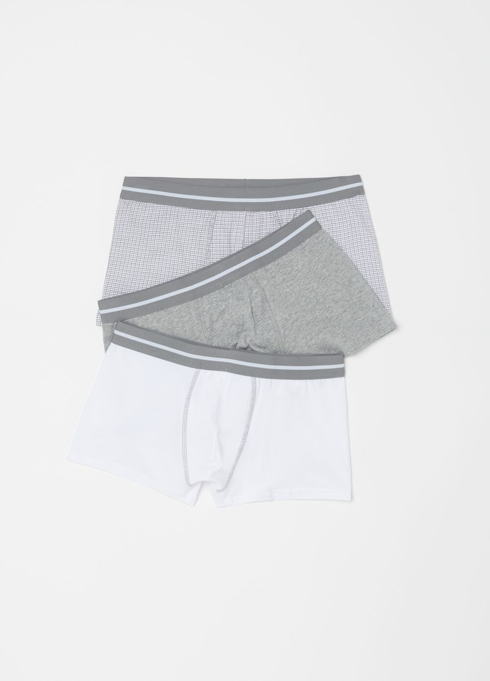 Three-pack stretch cotton boxer shorts with pattern