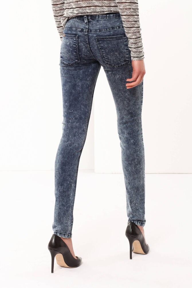 Faded-effect skinny fit jeans