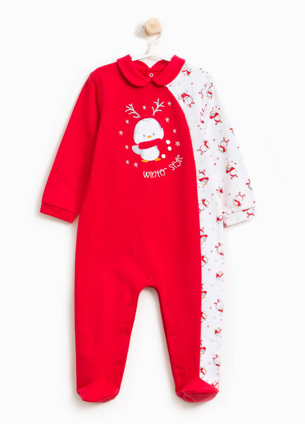 100% cotton onesie with Christmas print | OVS