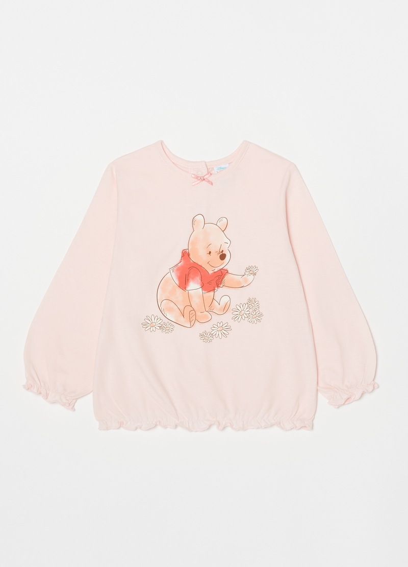Long cotton pyjamas with Winnie the Pooh print image number null