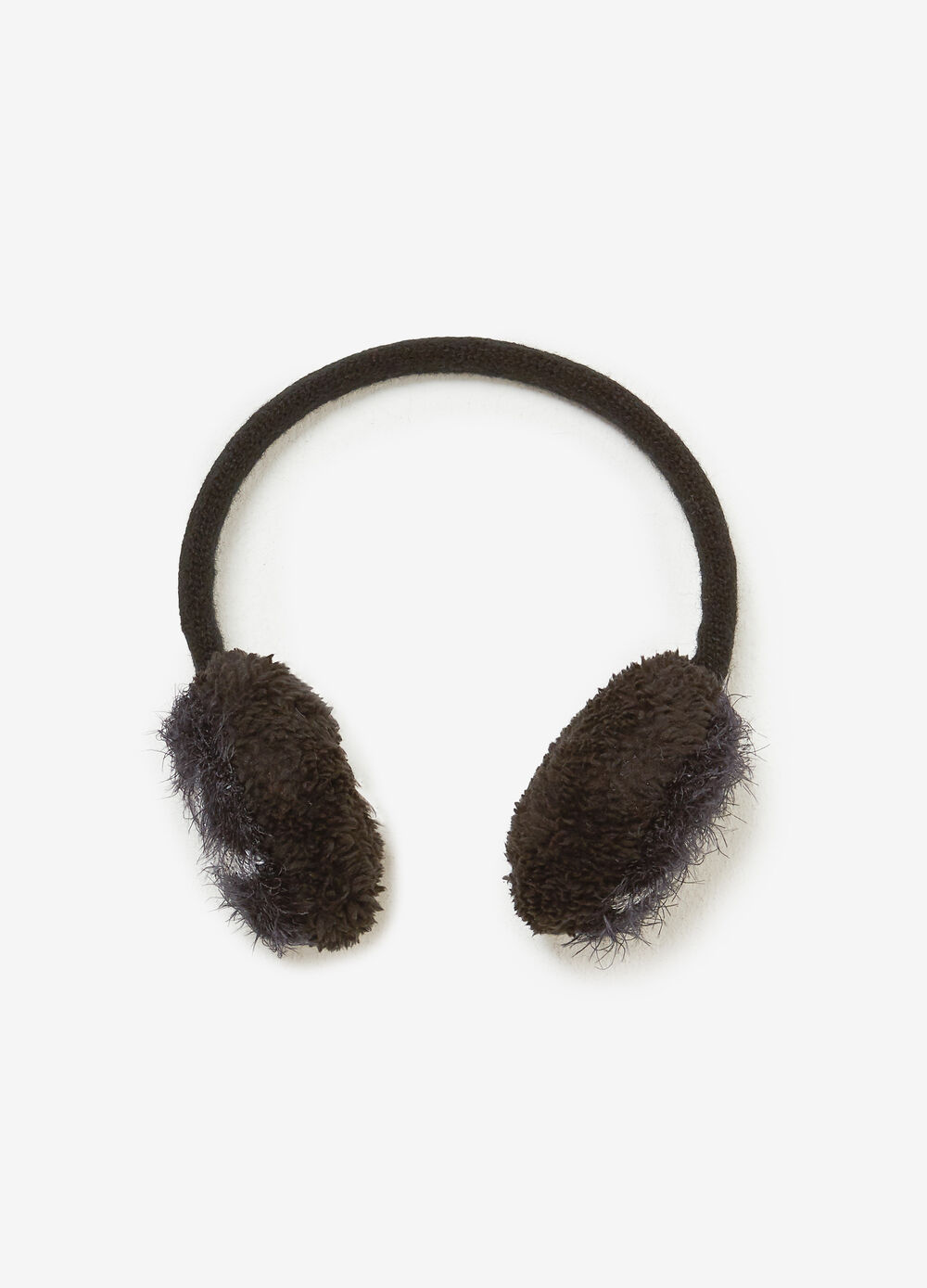 Frayed-effect earmuffs with stars