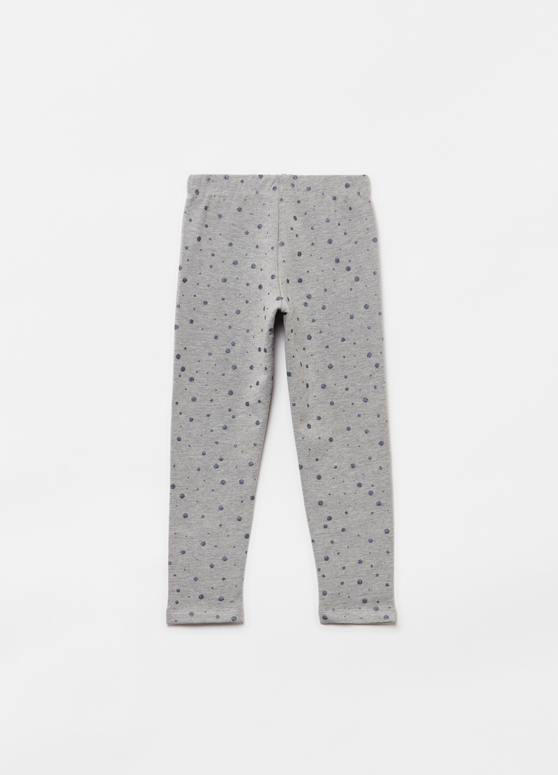 Leggings stampa pois glitter all-over image number null