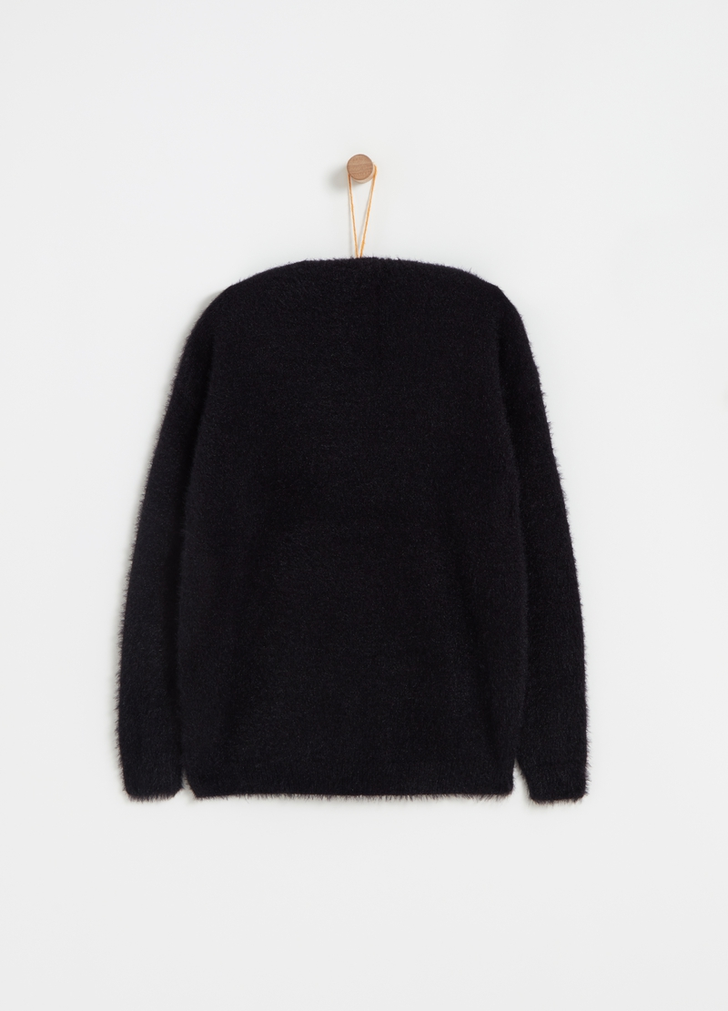 Pullover tricot con lurex bicolore image number null