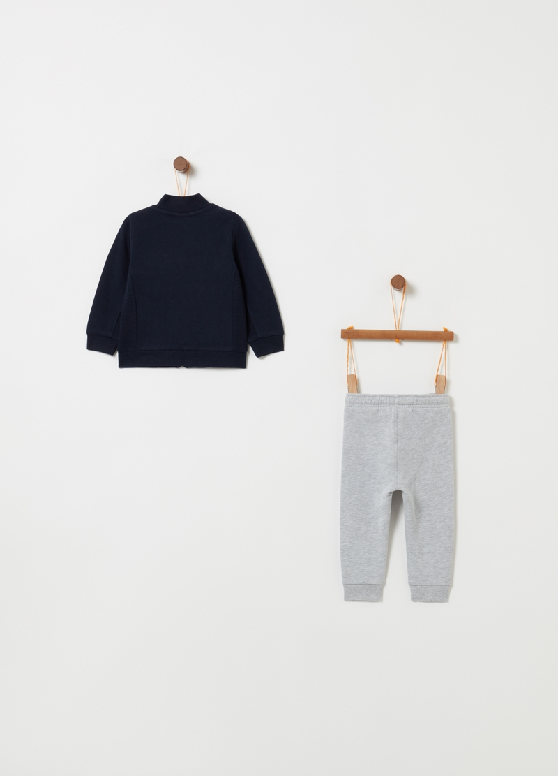 Jogging set with full-zip top and trousers image number null