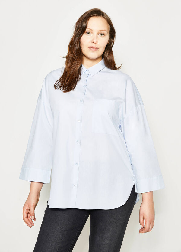Curvy wide shirt with pocket | OVS