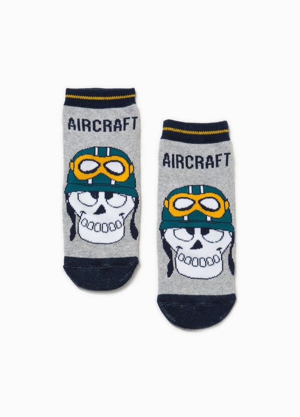 Skull slipper socks in stretch cotton | OVS