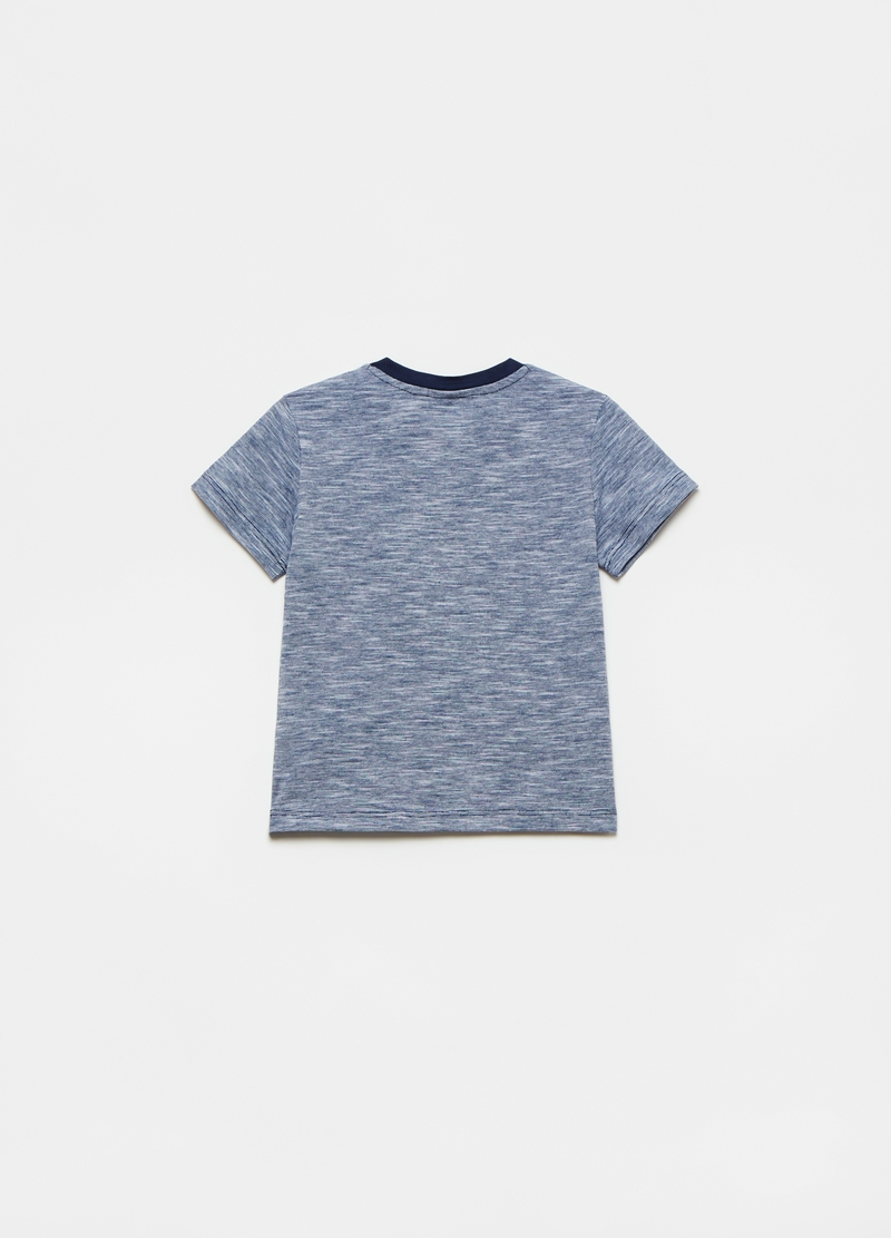 100% cotton T-shirt with boat image number null