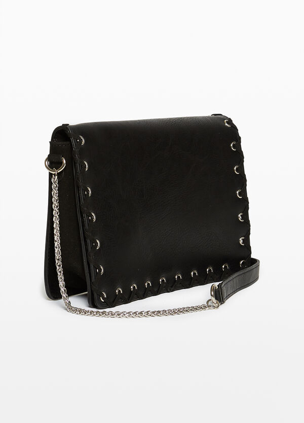 Shoulder bag with textured effect