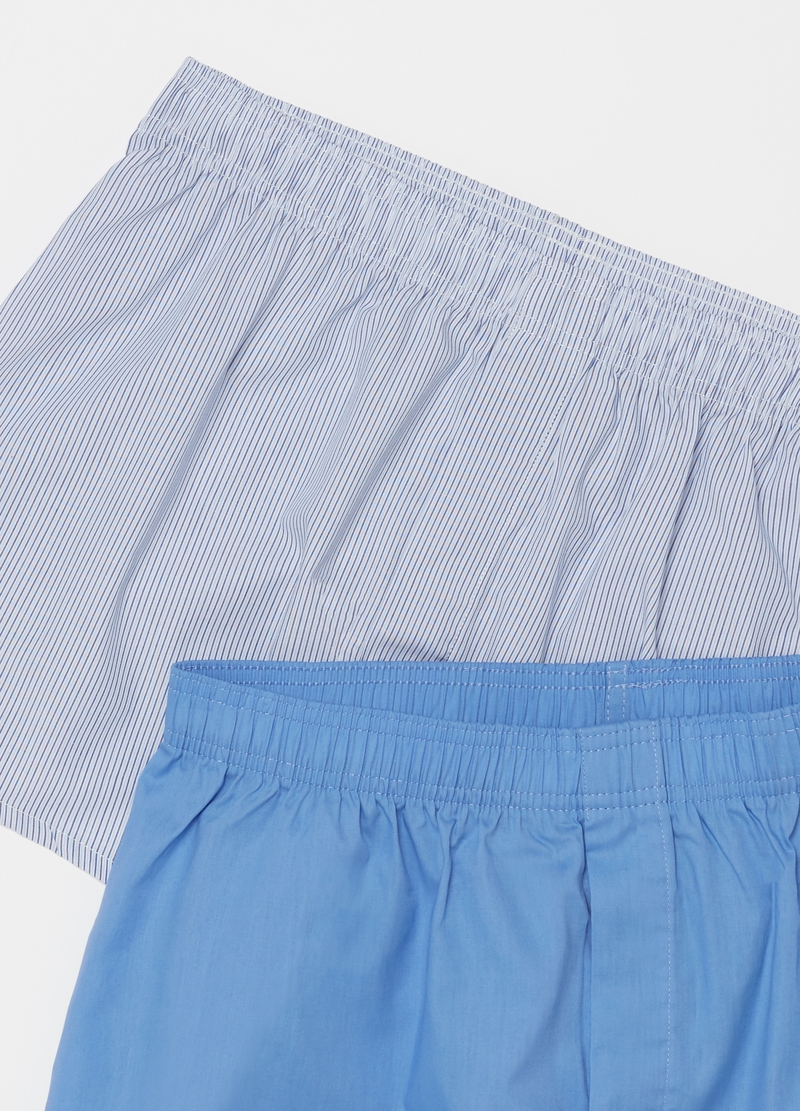 Two-pack patterned boxer shorts in 100% cotton image number null