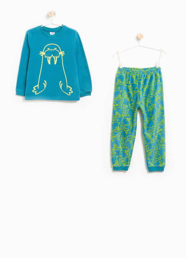 Fleece pyjamas with walrus print and pattern | OVS