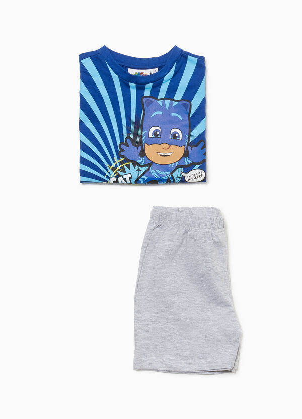 Cotton pyjamas with PJ Masks print