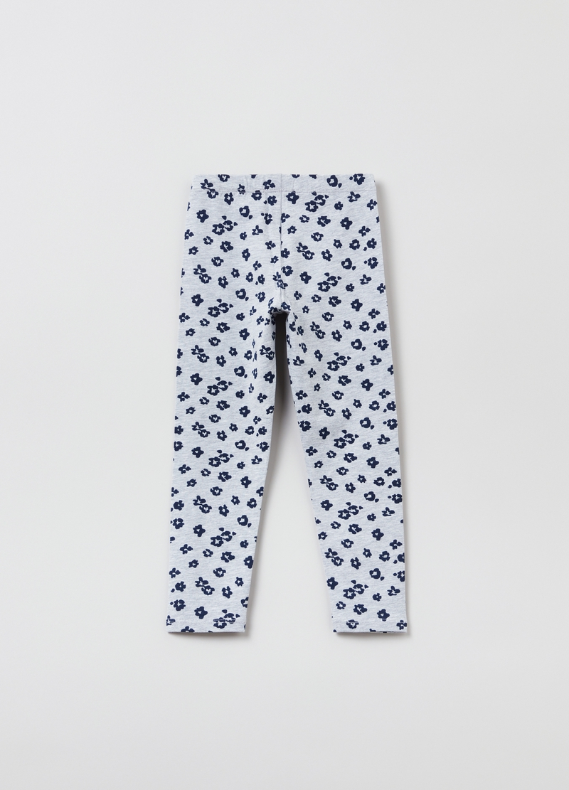 Mélange leggings with all-over print image number null
