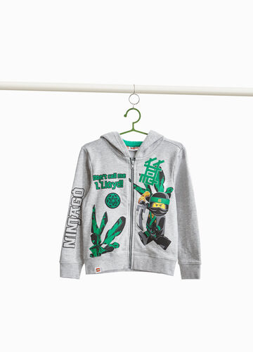 Sweatshirt in cotton blend with Ninjago print