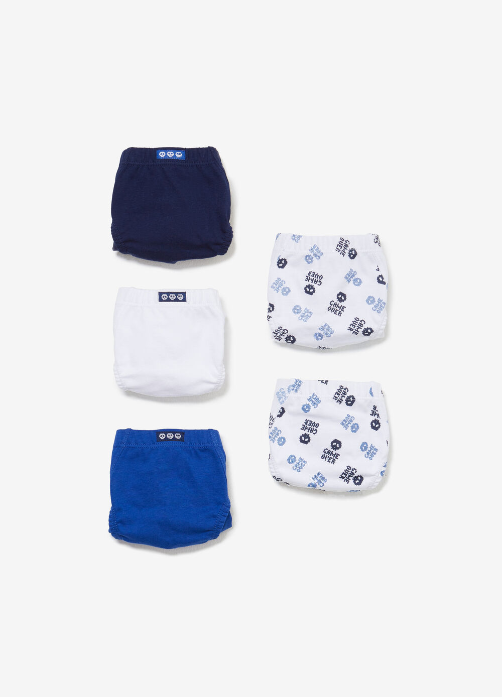 Five-pack patch and patterned BCI cotton briefs