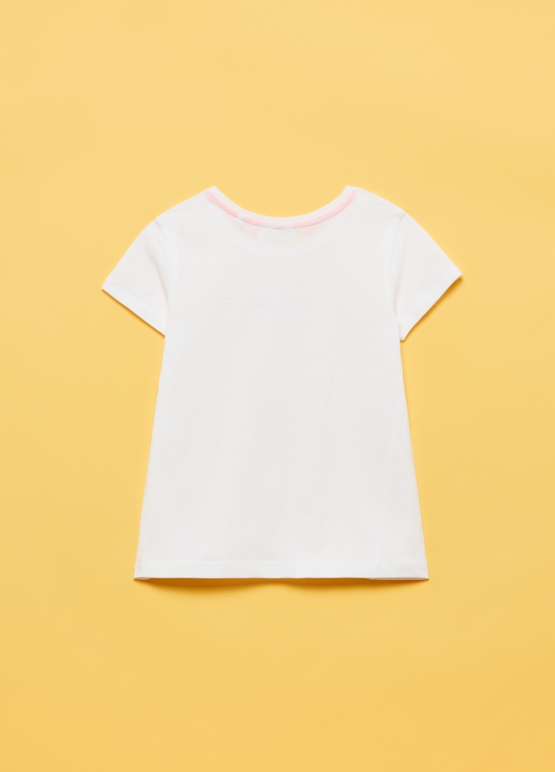 100% cotton T-shirt with glitter print image number null