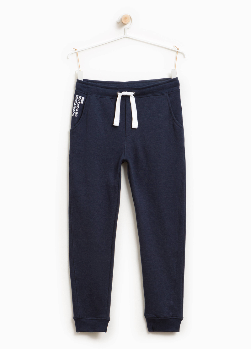 Joggers with lettering print and drawstring image number null