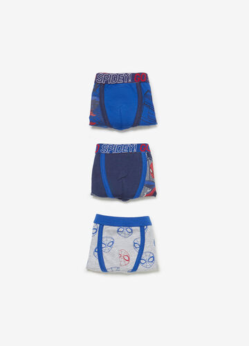 Three-pair pack stretch Spiderman boxer shorts