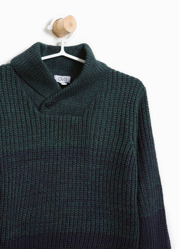 Striped cotton knitted pullover | OVS