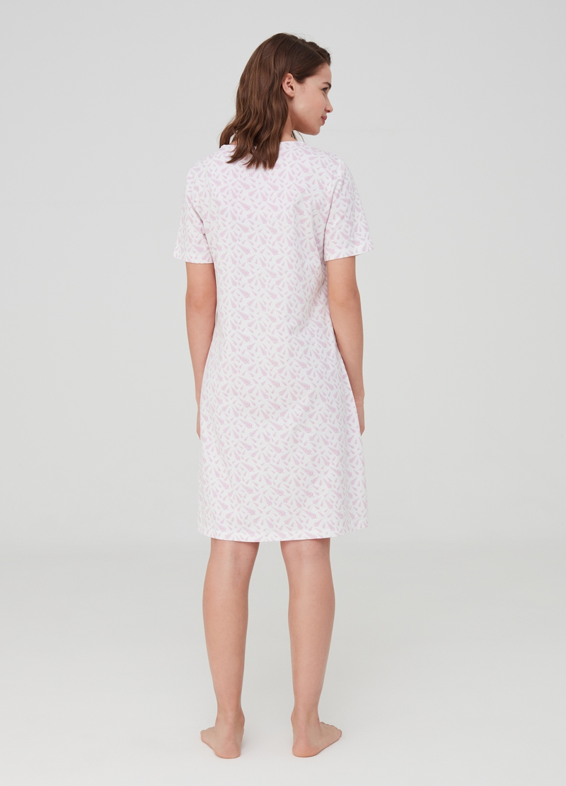 Organic cotton nightshirt with lace image number null