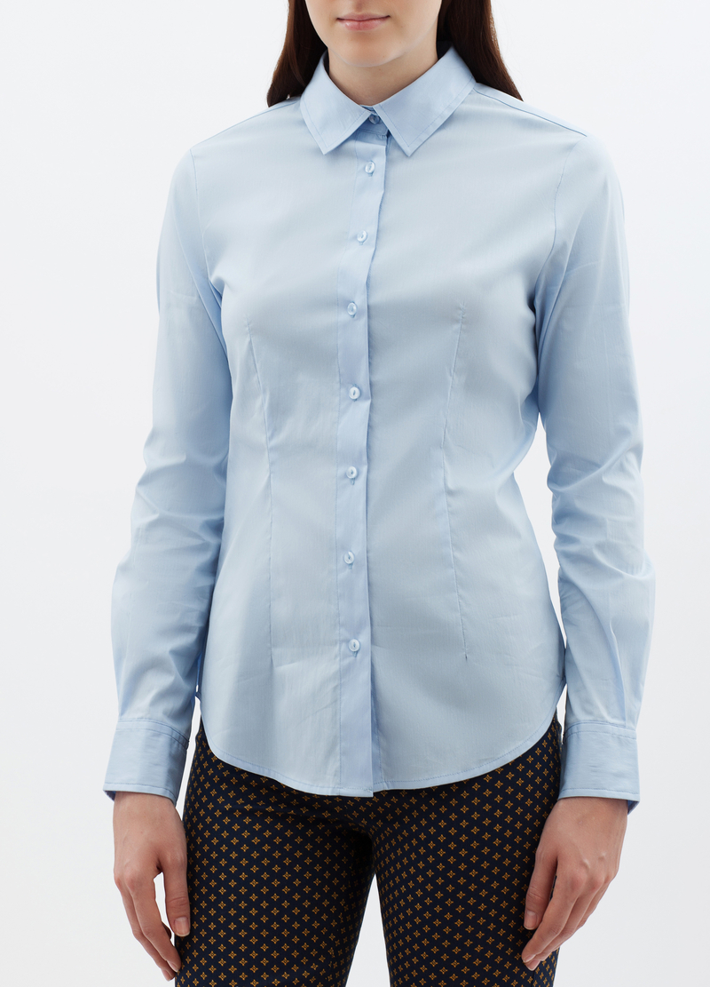 Camicia classica stretch image number null