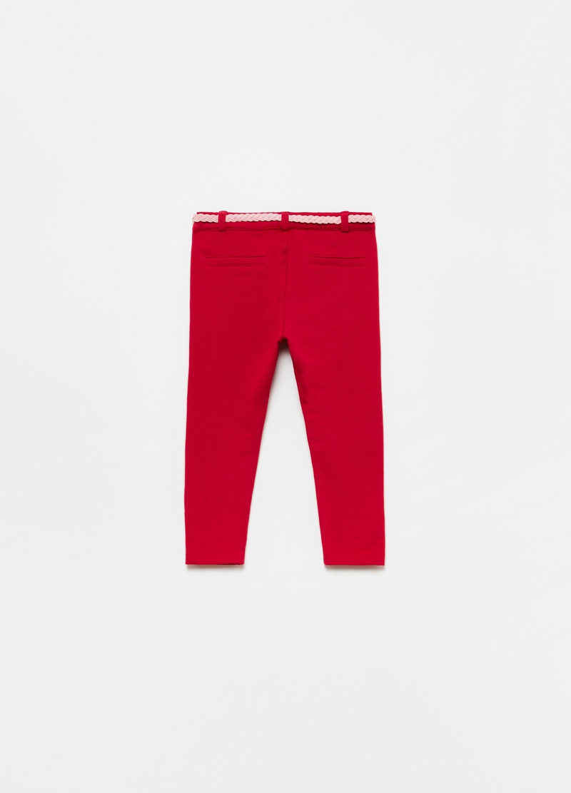Trousers with belt and pockets image number null