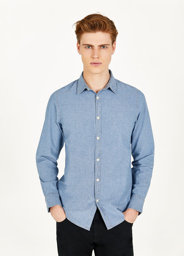 Solid colour 100% cotton casual shirt