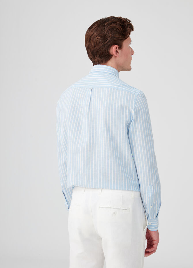 Camicia colletto button-down a righe
