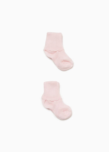 Two-pair pack short cotton socks
