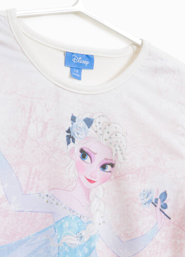 Stretch cotton T-shirt with Frozen print