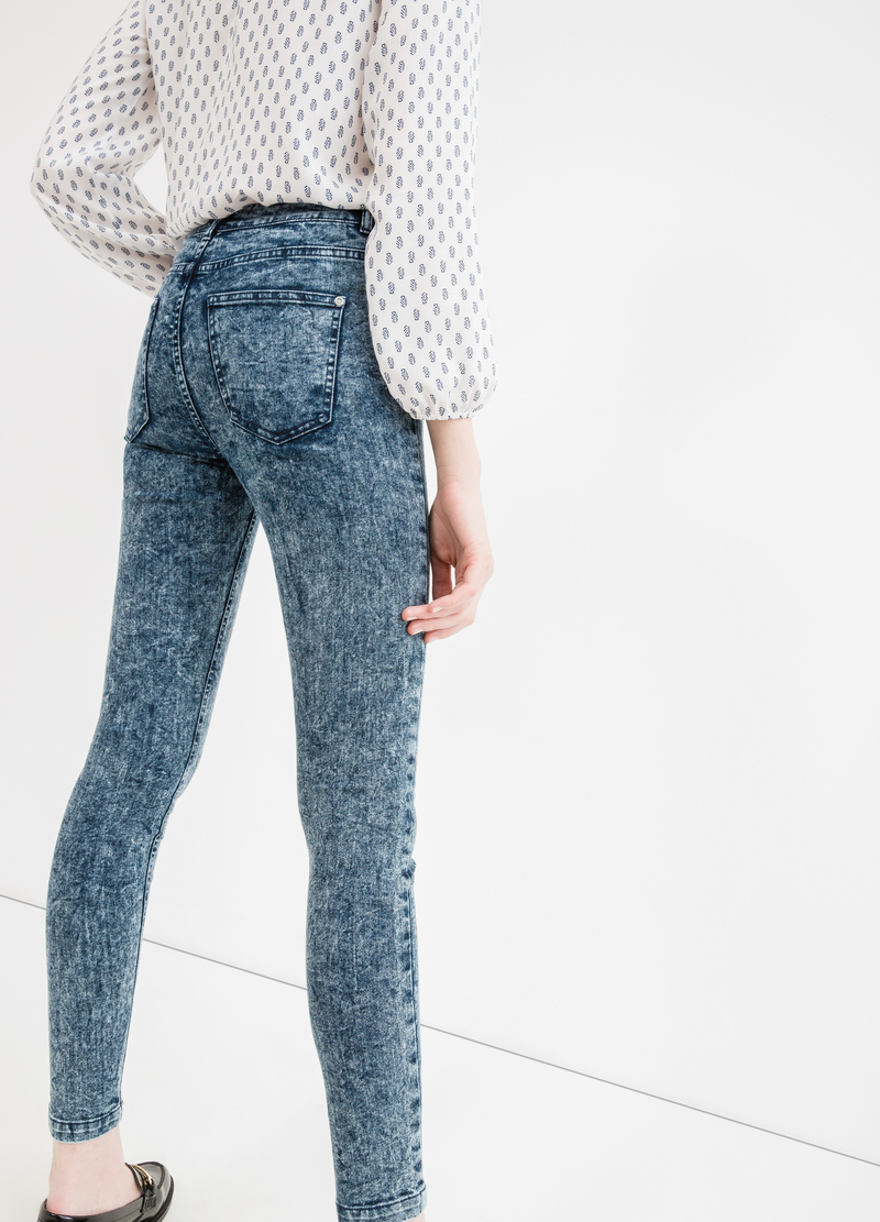Jeans effetto maltinto con zip image number null