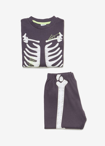 100% cotton pyjamas with skeleton print
