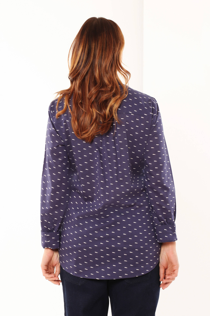 Curvy shirt with a Mandarin collar image number null