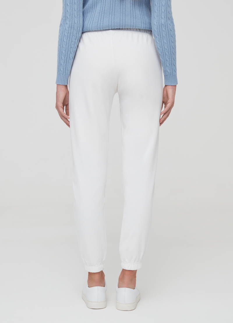 Joggers in French Terry di puro cotone image number null