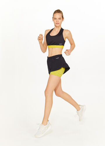 Top sportivo stretch con incrocio