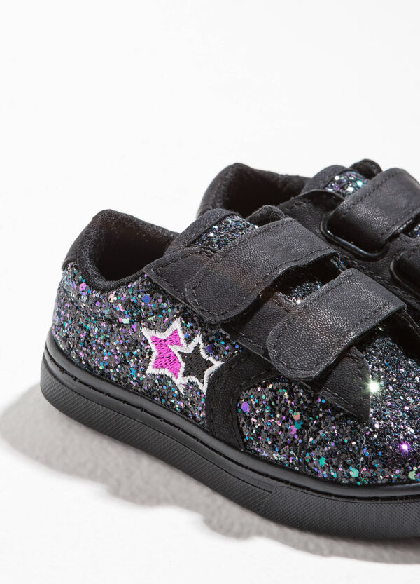 Sneakers glitterate in tela | OVS